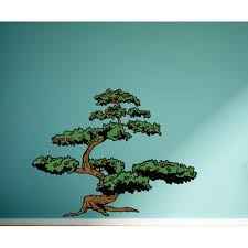 Bonsai Tree Wall Decal Vinyl Sticker Car Sticker Idcolor022 25 Inches Walmart Com Walmart Com