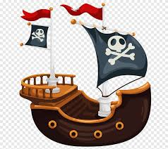 Piracy Wall Decal Child Illustration Pirate Ship Painted Hand Png Pngegg