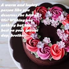 birthday cake and wishes for brother