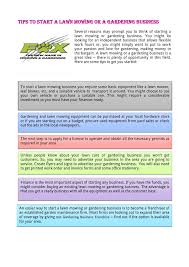 ppt tips to start a lawn mowing or a