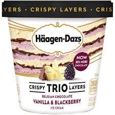 haagen dazs crispy trio layers belgian