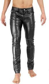 on leatherjeans men pants leather