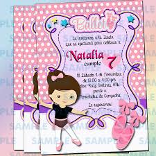 Invitaciones Ballet Ticketparty Fiesta Ballet Invitaciones 100 00 En Mercado Libre