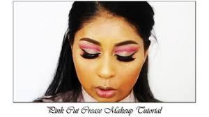 pink cut crease makeup tutorial eye