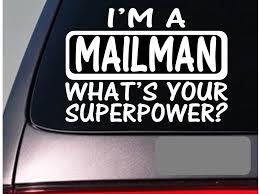 I M A Mailman Sticker Decal Mail Postal Letter Van Windowrier Mailbox Window Sticker Stickers Aliexpress