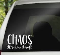 Mom Car Decal Mom Life Car Decal Chaos Coordinator Decal Etsy