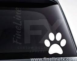 Dog Paw Print Vinyl Decal Sticker
