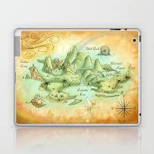 Neverland Map Laptop Ipad Skin By Mercedesjenningskrajny Society6