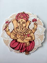 Ganesha Vinyl Decal Sticker For Car Truck Window Laptop God Hindu Elephant Om