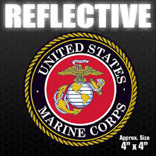Usmc Veteran Vinyl Car Truck Window Decal Bumper Sticker Us Seller Marine Corps Auto Parts And Vehicles Car Truck Graphics Decals Magenta Cl