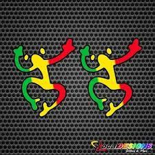 2x Puerto Rico Coqui Taino Rasta Vinyl Car Stickers Decals Ebay