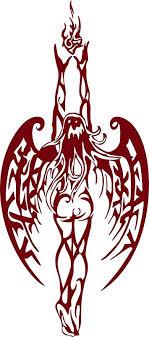 Amazon Com Angel Fairy Fantasy Girl Tribal Fire Flame Wings Car Truck Window Vinyl Decal Sticker Handmade