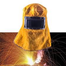 leather hood welding helmet welder mask