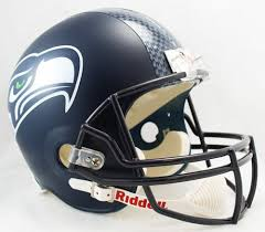 Seattle Seahawks Helmet Deluxe Replica W Decal Full Size 2012 Present By Riddell Sports Memorabilia