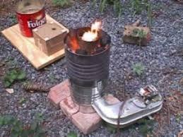 homemade coffee can furnace