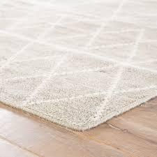 handmade geometric taupe white area rug