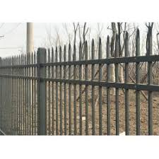 Hercules Steel Fence1 8m X 2 4m Ornamental Welded Metal Fence Panels With Black Color Pvc Coated Steelfence