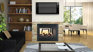 panorama p121 two sided gas fireplace