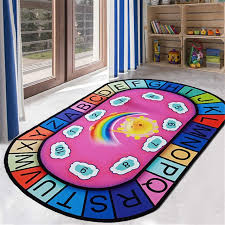 Big Offer C7bf Children Game Play Mat Cartoon Number Letter Oval Blue Carpet Kids Room World Map Rugs And Carpets For Home Living Room Cicig Co