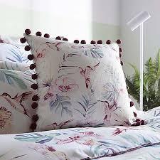 tropical hummingbirds printed cotton