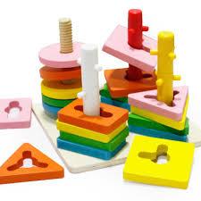 Đồ Chơi Montessori Luồn Cọc 4 Trụ Bằng Gỗ Cho Bé Học Hình Khối, Màu Sắc Và  Luyện Tay Khéo Léo Đồ Chơi Giáo Dục Benrikids