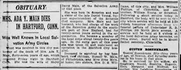 Obituary of Mrs. Ada (Young) Main 1875-1923 - Newspapers.com