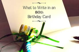 write in someone s 80th birthday card