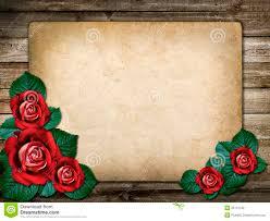 Tarjeta Para La Invitacion O La Enhorabuena Con Las Rosas Rojas