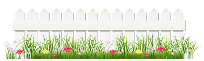 Transparent White Fence With Grass Png Clipart White Fence Flower Fence Clip Art Borders