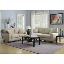 fabric sofa set in silica sand