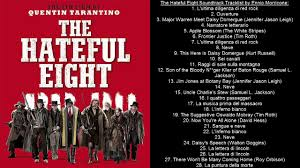 The Hateful Eight Soundtrack Tracklist by Ennio Morricone and VA - YouTube