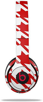 Amazon Com Skin Decal Wrap For Beats Solo 2 And Solo 3 Wireless Headphones Houndstooth Red Beats Not Included Home Audio Theater