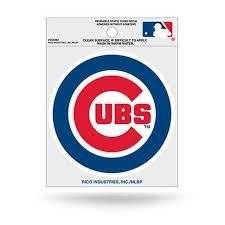 Chicago Cubs Static Cling Window Decal Sticker Set Of 2 By Rico Tag