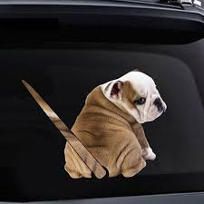 Funny Moving Tail Puppy Dog Car Reflective Stickers Car Window Wiper Decals Rear Windshield Sticker Wish