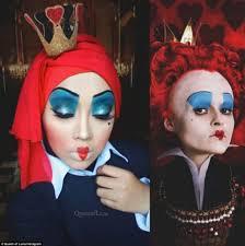 transforms herself into disney princesses