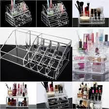 cosmetic organizer drawer holder clear