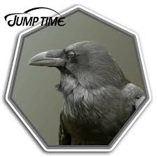 Jump Time For Black Crow Vinyl Stickers Raven Bird Fun Sticker Laptop Luggage Waterproof Accessories Car Bumper Window Decal Car Stickers Aliexpress