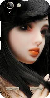 cute barbie doll printed back cover