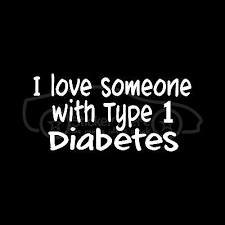 I Love Someone With Type 1 Diabetes Sticker Vinyl Decal Family Mom Dad Child Son Ebay