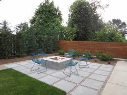 modern patio backyard colored concrete