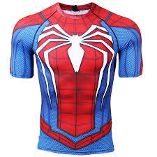 spider man ps4 men s pression shirt