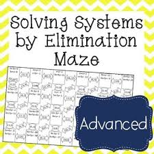 systems of equations maze advanced