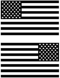 Amazon Com Usa Subdued Single Color American Flag 50 Stars 2 Vinyl Die Cut Decals Includes Standard And Reversed Designs Large Black Automotive