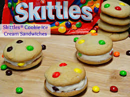 skittles cookie ice cream sandwiches