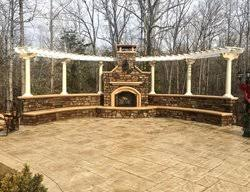 outdoor fireplaces pictures gallery
