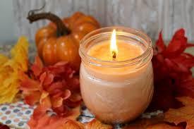 diy pumpkin e soy candle