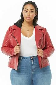 forever 21 plus size faux leather combo