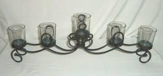 wavy metal glass votive candle holder