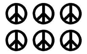 Small Peace Symbol Vinyl Decals Phone Set Of 6 Peace Sign Stickers She Kandy Vinyl Shop