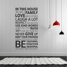 House Rules Wall Vinyl Decal Sticker Londondecal